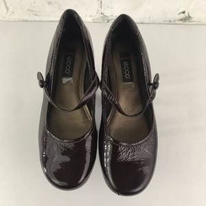 Ecco Womens Shoes 38/ 8 Patent Leather